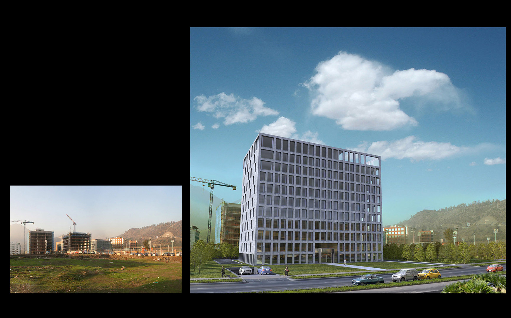 Inarco Project / Ciudad Empresarial / Santiago de Chile / Inarco / SetSapien / 3D Modeling and photo retouching