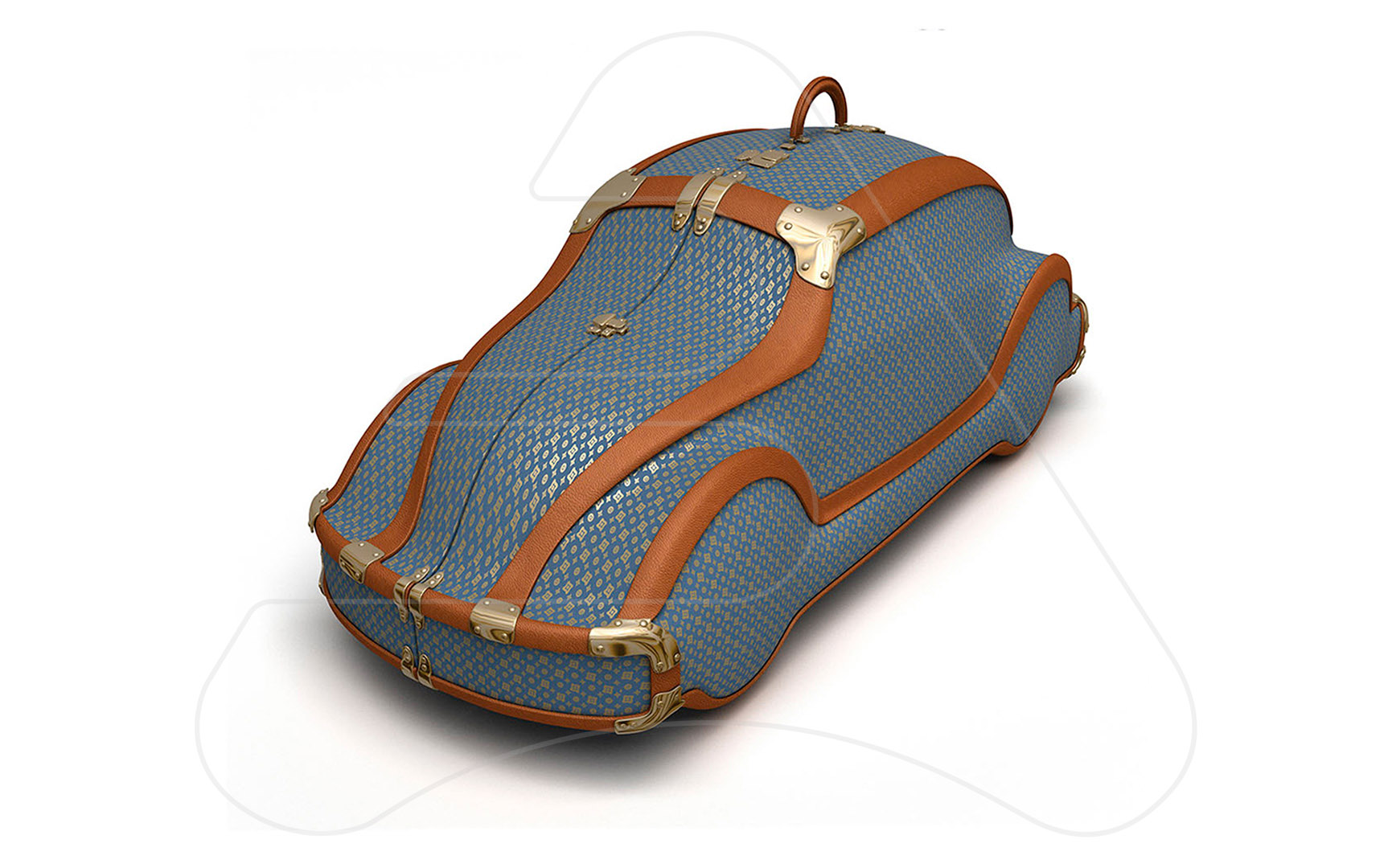 Suitcase Car / 3D modeling and illustration