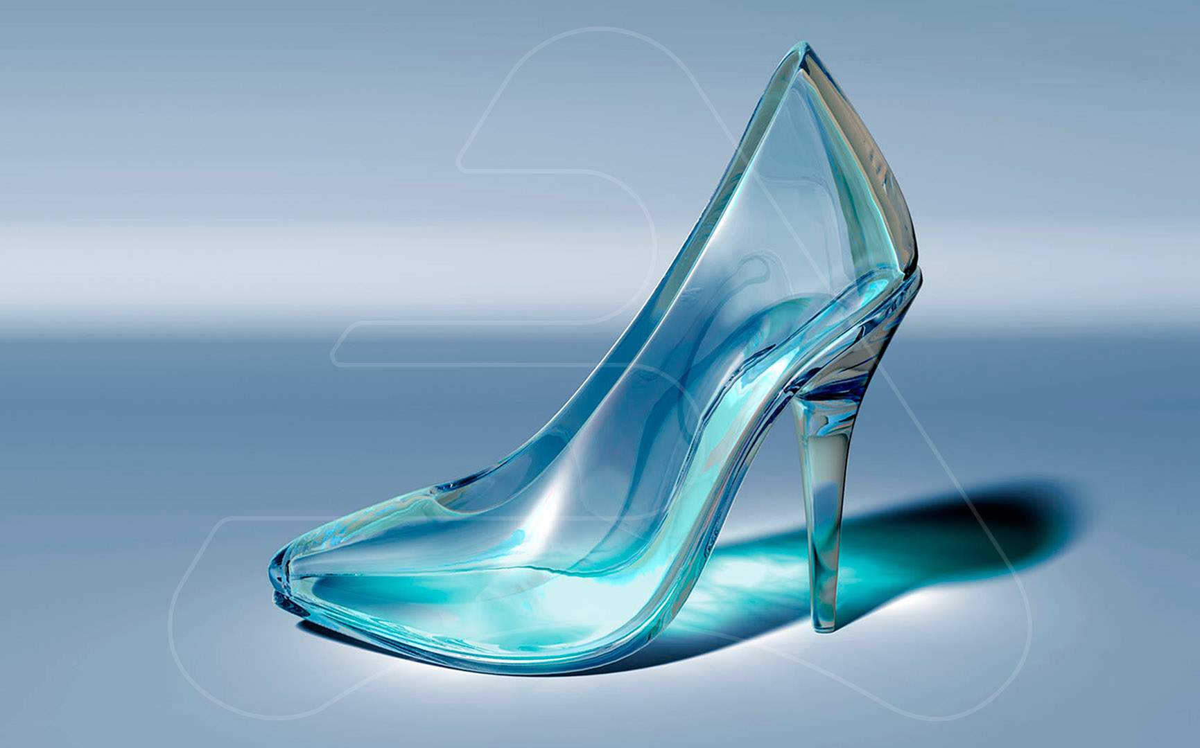 Cristal Shoe / Collection Kaibide / 3D Modeling and Photo retouching