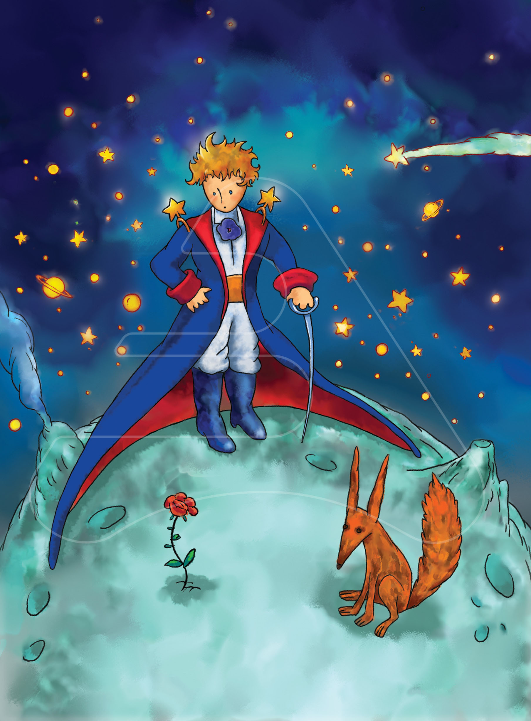 The Little prince / Watercolor