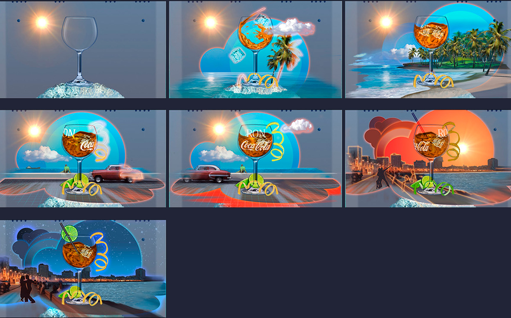Coca Cola / Cheil Spain / I-real Studios / Art direction - Animation desing (See each frames in Story Board section)
