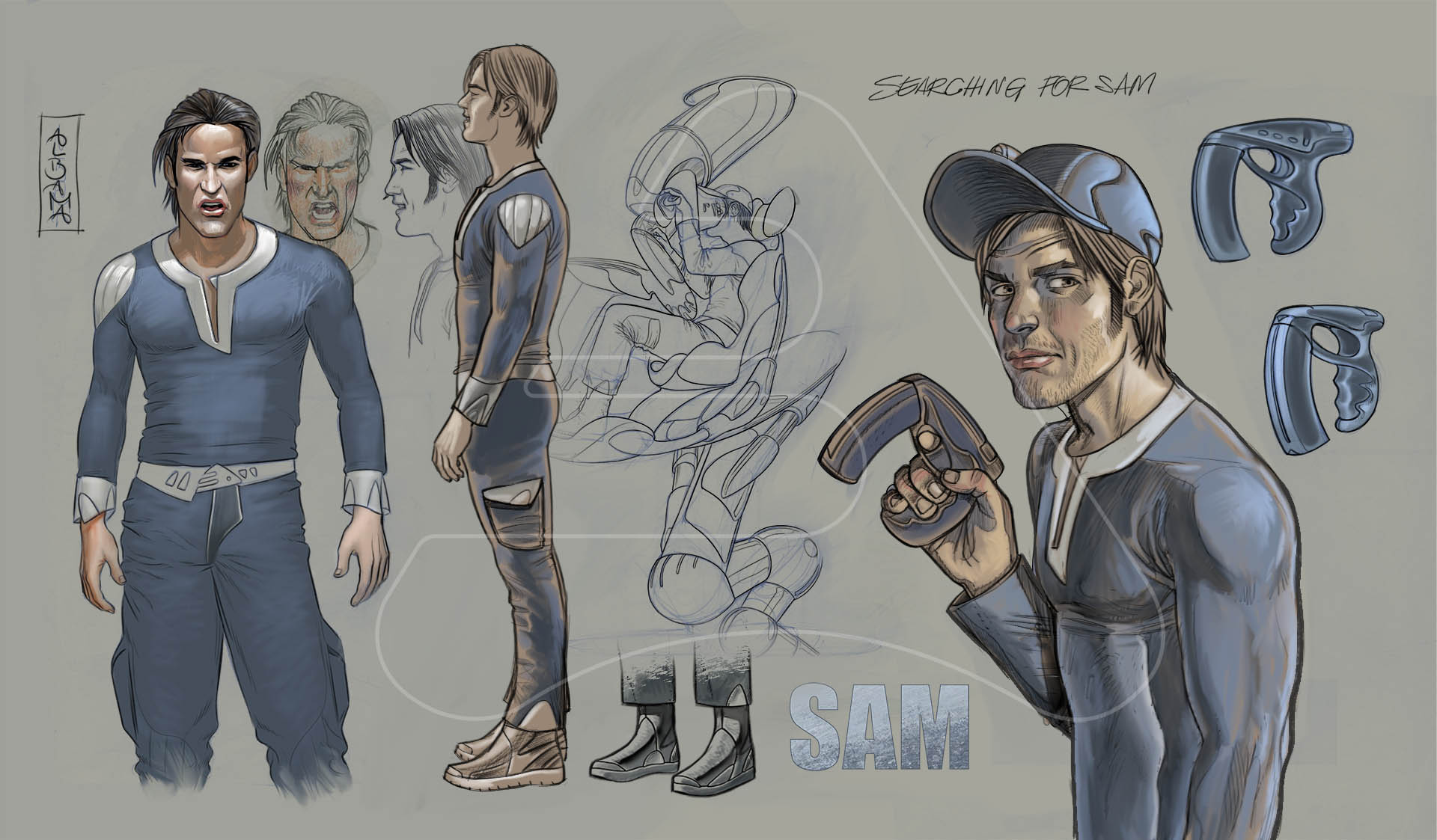 Sam / Character desing exploration / Comic Seti's Moons