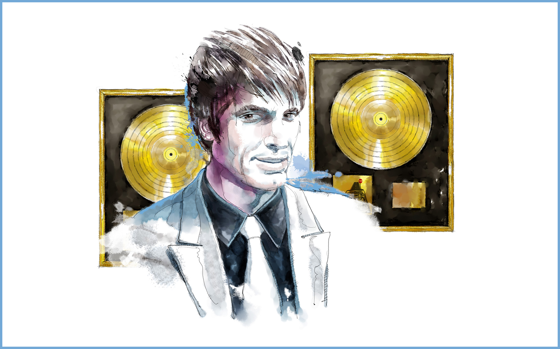 Golden disc / El país / The country of music / I-real studios / Digital illustration
