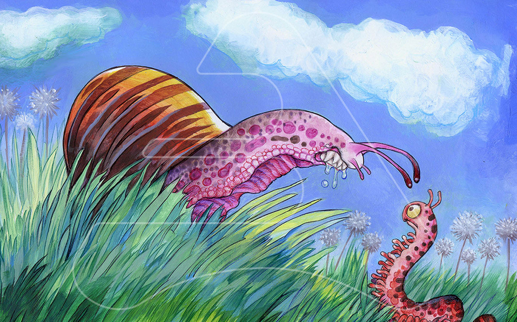Snail Predator / G+J publishers / Watercolor