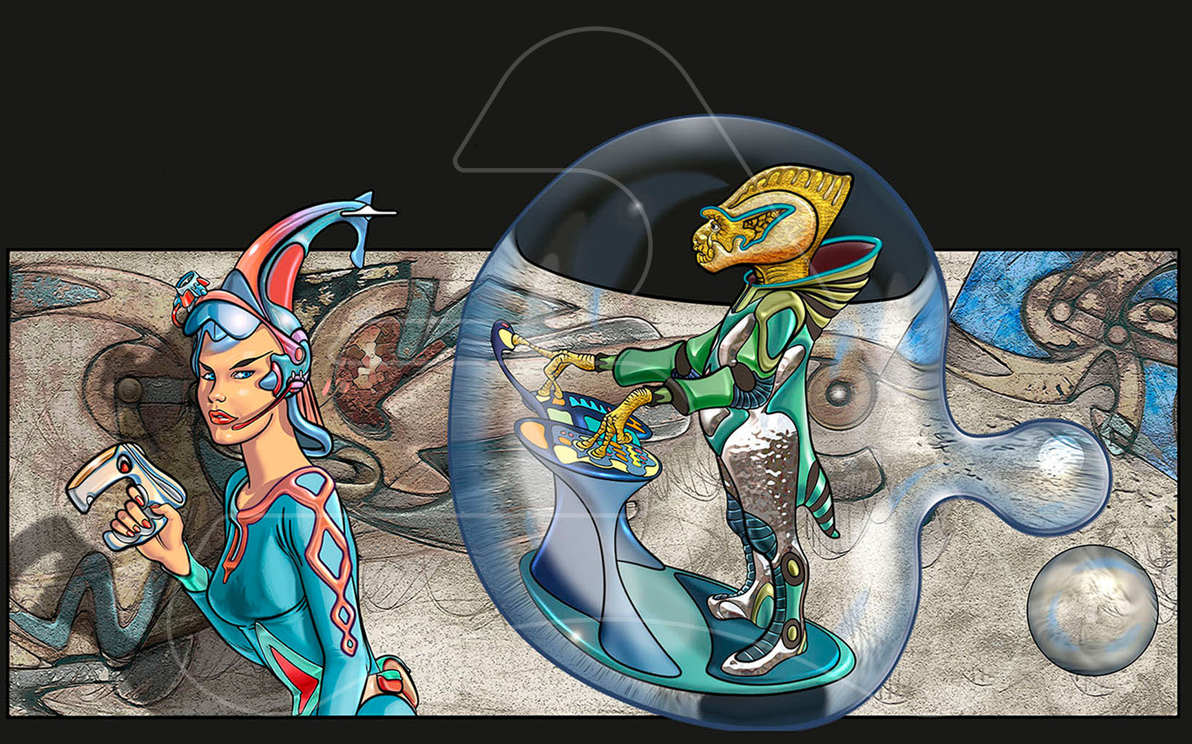 Comic The Seti's moons / Kaibide collection / Digital illustration