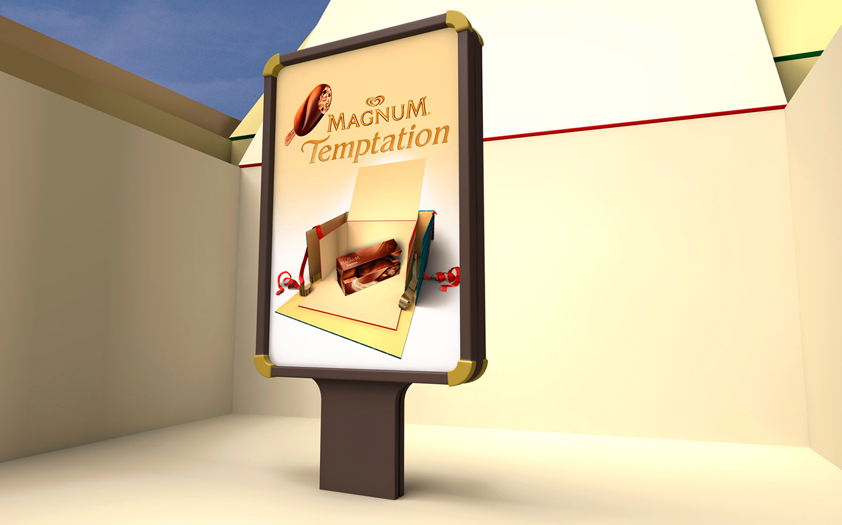 Magnum / Lola-mullenlowem Madrid / Stand design / 3D, Photo retouching and illustration