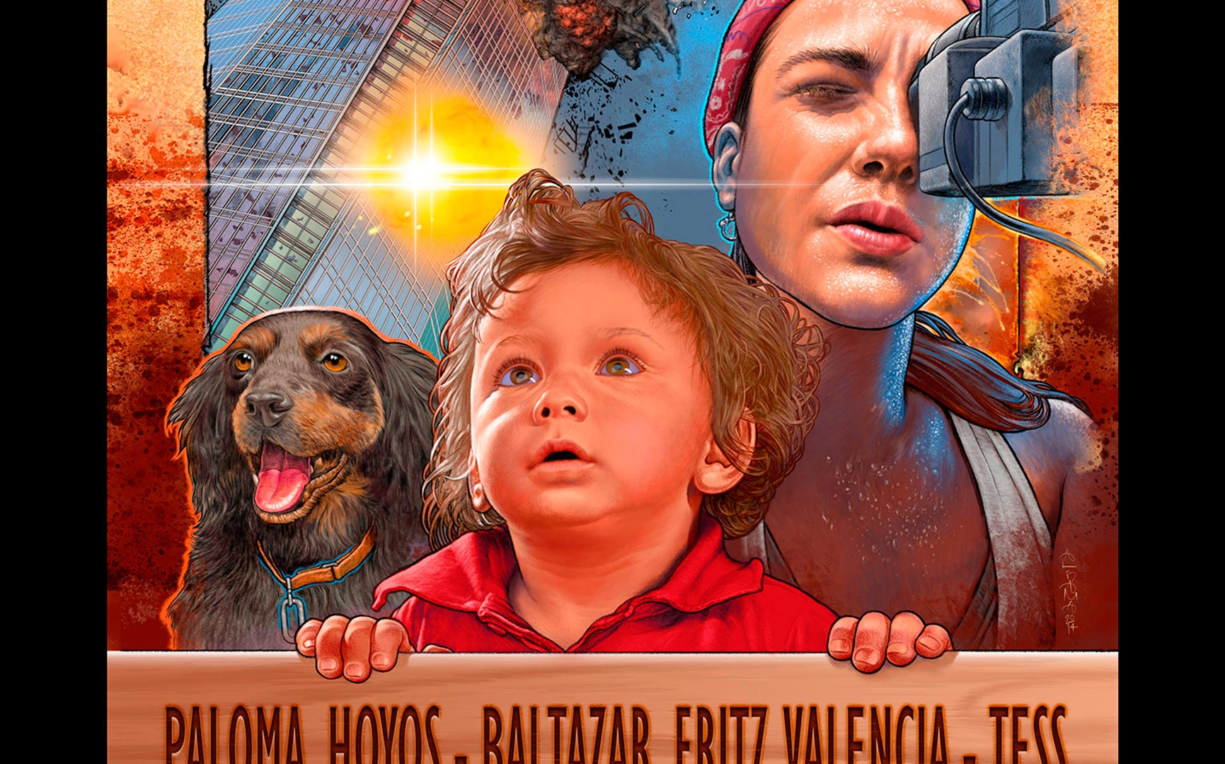 Super M short movie / Design and illustration of movie poster / JumpCats FX studios  Chile / Digital Illustration / Detail